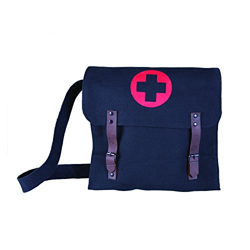 Stansport Medic Canvas Bag, Black, 12.5 x 11 x 3.5-Inch
