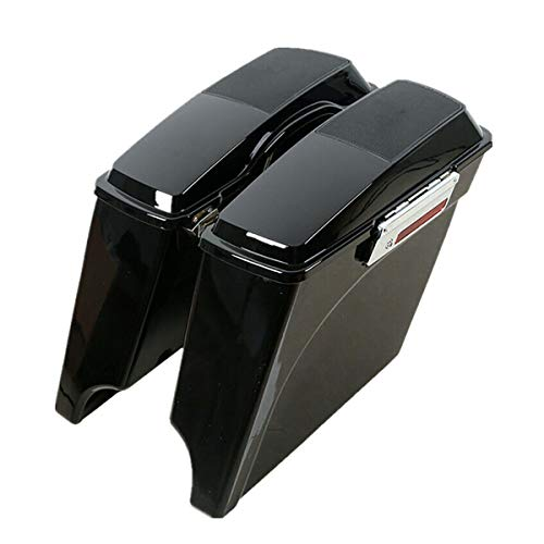 "TCMT 5"" Stretched Extended Hard Saddlebags 6X9"" Speaker Lid Fits For 93-13 Harley Touring Model"