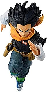 Verkligt och roligt Toy Statue Dragon Ball Android 17 Running Purce Action Figure Collection Presenter till Dragon Ball Fans