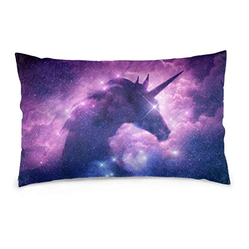 iksrgfvb Pillowcases 16X24inch Unicorn Starry Sky Throw Pillow Covers Sofa Car Cushion Cover Home Decorative 40X60CM