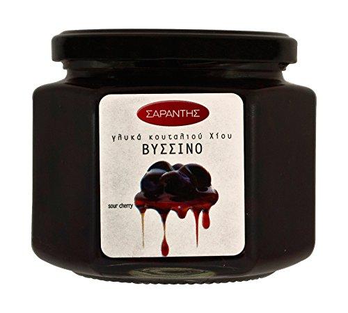Sauerkirschen Vyssino in Sirup eingelegt 453g griechische Süßspeise Süßigkeit eingelegte Sauer Kirschen zu Joghurt und Eiscreme