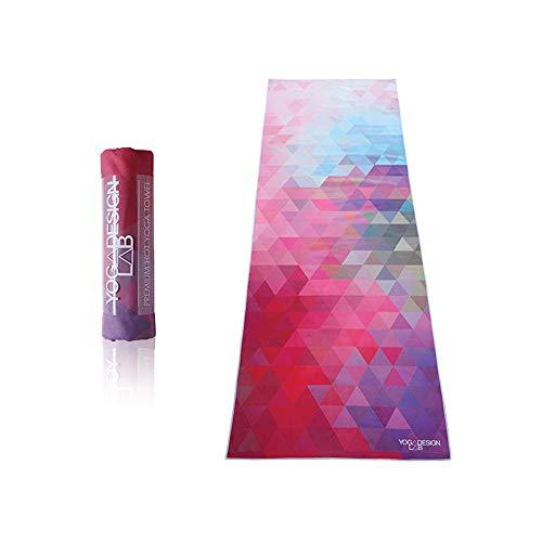 Yoga Design Lab | Toalla de Yoga | Suave y Acolchada | Antideslizante | Absorbente | Hecho de Microfibra de Botellas recicladas | Diseñada con tintas ecológicas (Tribeca Sand)