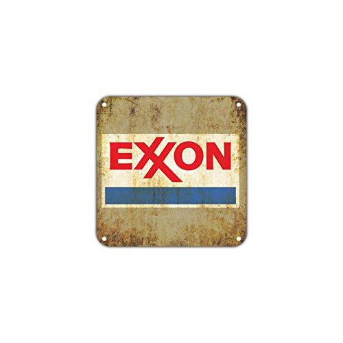"Exxon Gas Station Oil Petroleum Gasoline Vintage Retro Metal Wall Decor Art Shop Bar Aluminum 12""x12"" Sign"