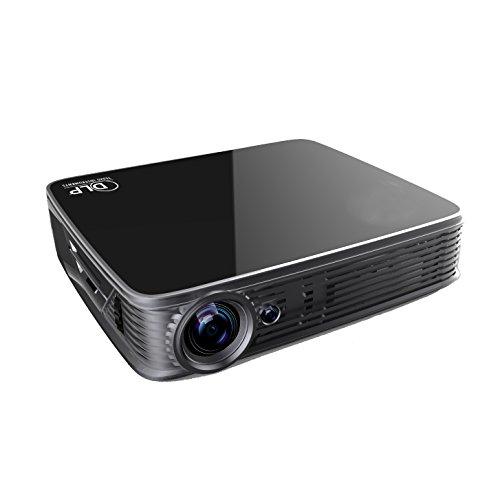 Proyector 4K UHD GT918,Deeirao Android5.1 DLP Home Theater Mini portátil construido en WiFi 1280 * 800 Resolución nativa Quad Core 2D Convertir a 3D Bluray 3D USB Hdmi Bluetooth 4.0 lámpara LED Negro