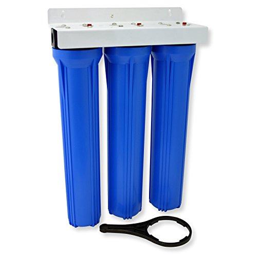 NW-BRK03 3-stufiger Wasserfilter 20Zoll-508mm 5µ Sedimentfilter Aktivkohle Block Aktivkohle Granulat