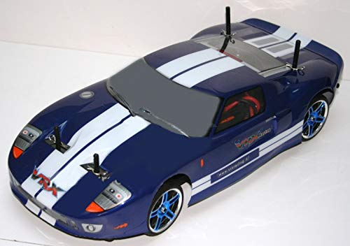 VRX X-Ranger GT Motore Elettrico brushless Ruote cromate, carrozzeria Ford GT + Kit luci, Radio 2.4gHz Lipo 7,4V 1/10 RTR 4WD