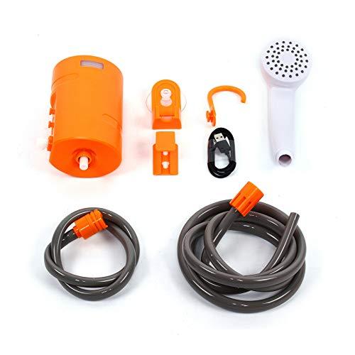 Ducha eléctrica portátil de 3,7 V, para camping, ducha de 4400 mAh, baterías de coche, caravana, jardín, exterior, caravana