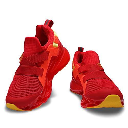 Deevike - Zapatillas deportivas transpirables para niños y niñas, 29-38EU, (1 rojo.), 30 EU