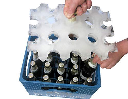 Monsterzeug Ölkylare, isblockform för öllådor, för lådor med 20 x 0,5 L flaskor, blå