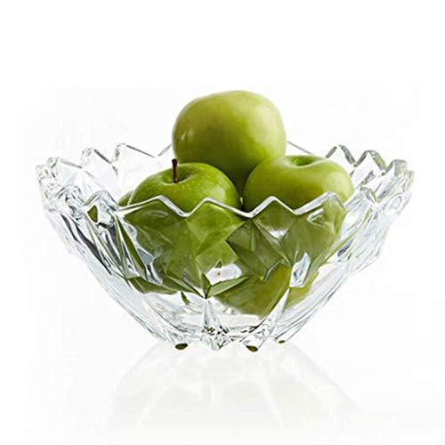 KDJJH Arbeitsplatte ObstköRbe, Kristallglas Etagere mit Obstschalen Obst-Etagere für Obst Aufbewahrung,White_11x24.5cm/4x10inch