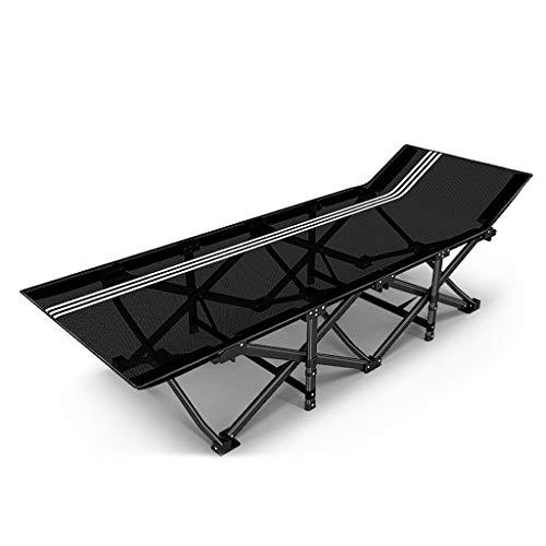 UCYG Inklapbaar logeerbed, inklapbaar beddengoed, slaapbank, sideboard, 1 persoons, metalen frame, met matrassen, voor camping, slaapkamer, 200 kg draagkracht, 190 x 68 x 35 cm