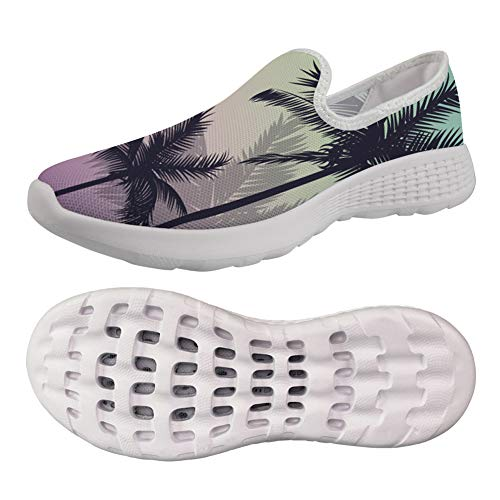 chalqin Women Trainers Sneaker Road Running Shoes Leisure Travel Walking Beach Water Shoes Garden Clogs Shoes Comfortable Shoe Coconut Tree Design EUR 39