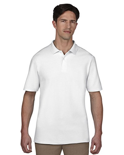 Anvil Adult Piqué-Polo, Blanc (WHT-White 030), Medium (Taille Fabricant: M) Homme