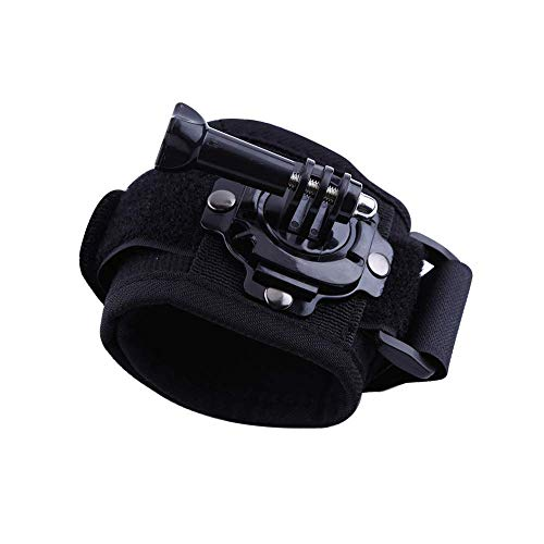 Kaliou 360 Degree Rotation Hand Palm Wrist Strap Mount Arm Belt Holder for Gopro Hero 7 5 6 4 Session Xiaomi Yi 4K SJCAM SJ6 Eken h9 Actions Cameras Accessory (Wrist Strap)