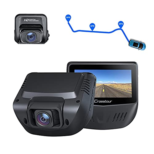 Dash Cam, Front and Rear 1080P Dash Camera for Cars, Optional GPS, 170° Wide Angle, Support 128GB Recorder with 3 Inch IPS Screen, Driving Recorder with Supercapacitor, G-Sensor, Loop Recording