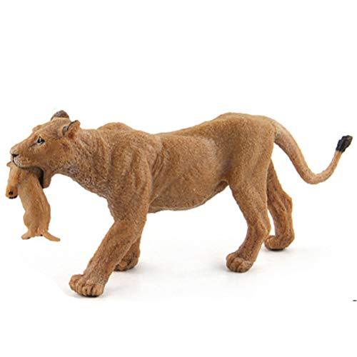 MeiLiu Juguetes Modelo león, Modelos estáticos de Animales Salvajes (león Macho / león Madre / pequeño león), Juguetes educativos para niños