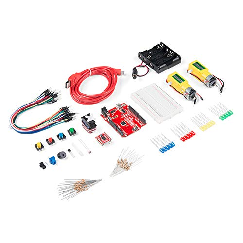 SparkFun Tinker Kit-Compatible with Arduino Beginner Kit Age 10 plus Start Learning Programming & Electronics Use: Education Classroom MakerSpace Library Home Learning Build a Robot No Soldering