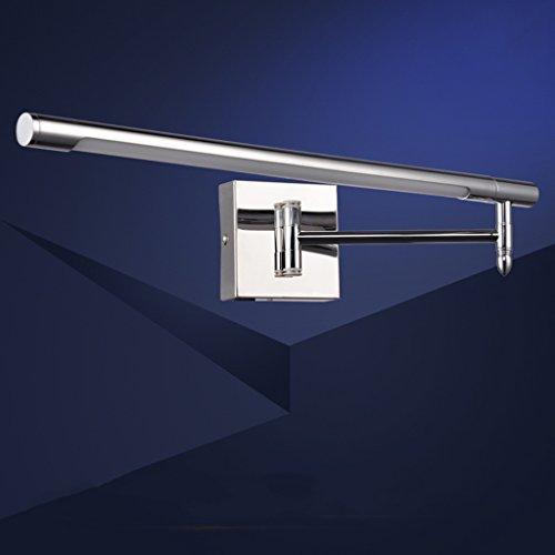 Soarl Badkamerspiegellamp, led-spiegellamp, waterdichte anti-mistspiegel, verlicht de uitrekkende kanten, aangebrachte badkamerspiegel, kastverlichting