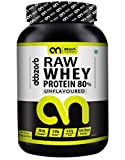 Abbzorb Nutrition Raw Whey Protein 80% 26.4g Protein   5.6g BCAA 30 Servings