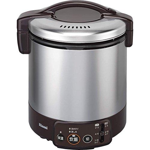 リンナイ こがまる ジャー付きガス炊飯器 10合炊き・ダークブラウン・都市ガス13A用 RR-100VM(DB) 13A