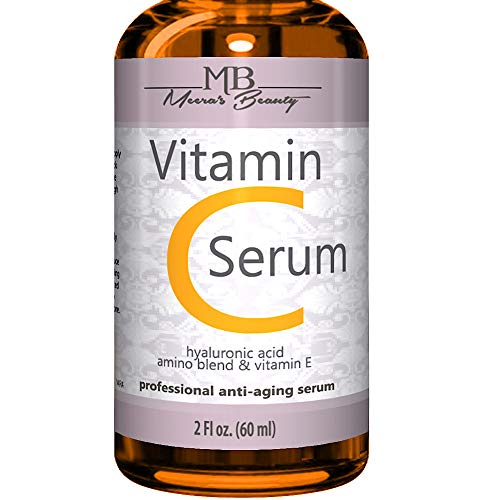 DOUBLE SIZED (2 oz) PURE VITAMIN C SERUM FOR FACE 20% With Hyaluronic Acid - Anti Wrinkle, Anti...
