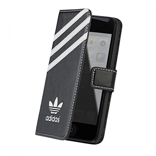 Adidas BXAD15685 – Custodia a libro per Apple iPhone 5C, nero/bianco