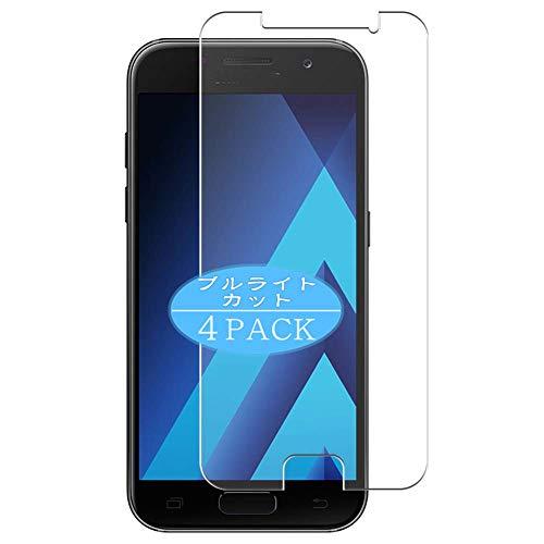VacFun 4 Piezas Filtro Luz Azul Protector de Pantalla, compatible con Samsung GALAXY A3 2017 A3200, Screen Protector Película Protectora(Not Cristal Templado) NEW Version