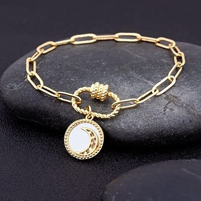 New Design 17 Styles Moon Charms Pendant Bracelet Copper Cubic Zirconia Jewelry Making for Women Girls Party Anniversary Gifts