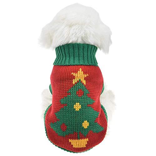 Kleding voor huisdieren, honden, pullover voor Kerstmis, vakantie, festival, kostuum, teddybeer, VIP, voor het dragen van kleding voor pups, truien, herfst en winter, dik gebreid, kleding, XS