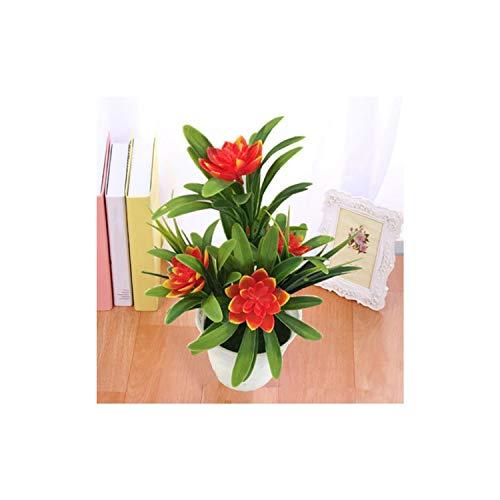 no problem Künstliche Pflanzen, künstliche Blumen, Bonsai, Garten, Zuhause, Party, Schreibtisch, Büro, dekorativ, Orange, Einheitsgröße