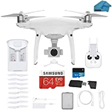 DJI Phantom 4 PRO V2.0 Quadcopter Drone with 1-inch 20MP 4K Camera KIT, 64gb Micro SD with Must Have Accessories