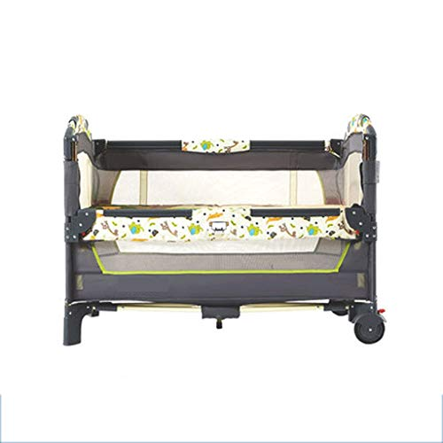 Buy Bargain Portable Collapsible Crib Multifunction Baby Bb Bed Splice Big Bed Newborn Moving Bed (C...