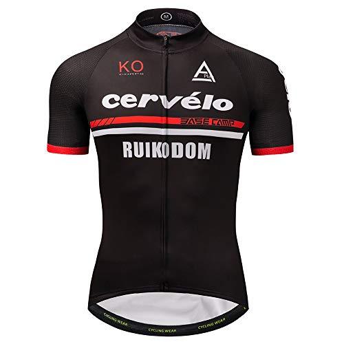 Cicix Cycling Jersey Men Short Sleeves Biking Jerseys Bicycle Jacket Clothing V1 (N, XL)