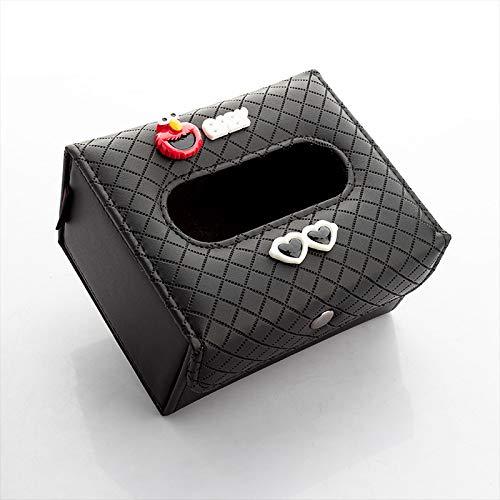 RAP Auto-interieur tissue-box, auto tissue-box, creatieve zonneklep hangend schuifdak, stoel achterlade, vouwen tissue-box [Sesamstraat]