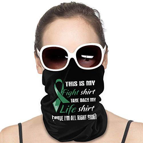 Headband,Bufanda Mágica Ribbo Verde Esmeralda De Cáncer De Hígado, Calentadores De Cuello Livianos para Fiestas Y Vacaciones,25x50cm