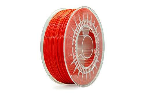 Eolas Prints | Filament 3D Printing 100% PETG | Stampante 3D | Prodotto in Spagna, Adatto per l'uso con cibo e creare giocattoli | 1.75mm | 1Kg | Rosso