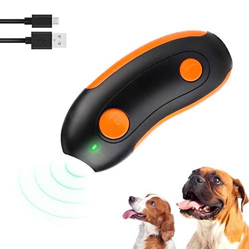 Anti-Bellen-Gerät Ultraschall Hunde Anti-barke mit Attraktivem Rotem Licht Handheld Wiederaufladbar Hundetrainingstool Anti Bellen Halsband für Hunde Schmerzfreie Hunderkontrolle Trainingsgerä