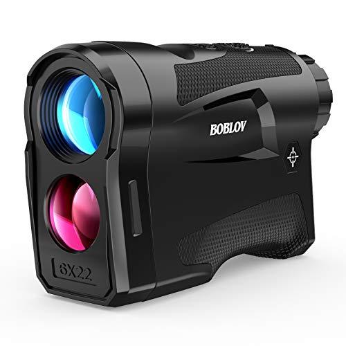 BOBLOV 650Yards Slope Golf Rangefinder with Pinsensor 6X Magnification Support Vibration and USB Charging Flag Lock Distance Speed Measurement Range Finder LF600AG with Slope (Black)