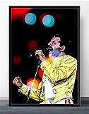 koushuiwa Freddie Mercury Rock Music Canvas Painting
