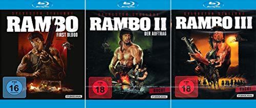 Rambo 1 + 2 + 3 Uncut (Digital Remastered) [3er Blu-ray-Set]