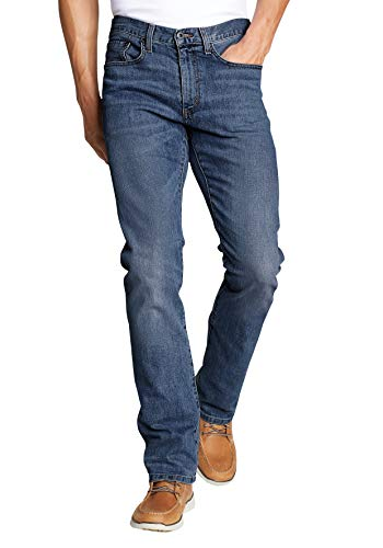 Eddie Bauer Herren Flex Jeans - Straight Fit, Gr. 38-34, Canyon