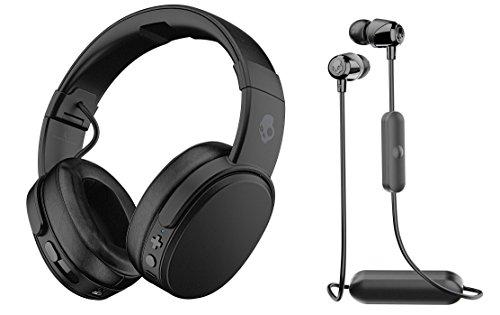 Skullcandy Crusher Wireless Headphones and Jib Bluetooth Earbuds Bundle, Black