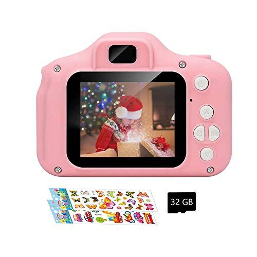 AWQM Kinder Kamera, Fotoapparat Kinder Geschenk Kinder Digitalkameras für Jungen Mädchen Geburtstag Spielzeug Geschenke 3-12 Jahre alte Kinder Action Kamera Videorecorder 1080P kinderkamera, Blue