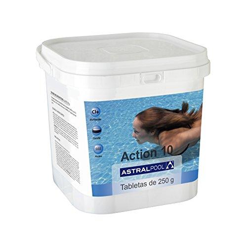 Astralpool Action-10 Desinfectante Con Cloro Multiac. 5 Kg 250Gr - Formato Cuadrado