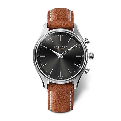 Kronaby Sekel Herren Connected Uhren A1000-2749 eine traditionelle Uhr mit Smartwatch Funktionalitäten 38 mm Gehäusedurchmesser Saphirglas 100 M wasserdicht