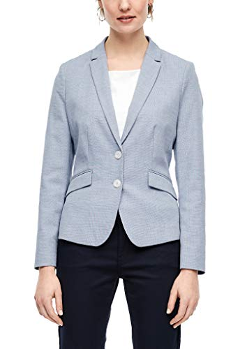 s.Oliver BLACK LABEL Damen Blazer mit Webstruktur Blue panneau Print 38