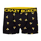 Crazy Boxer T306-1-Z Boxer Microfibra (92% poliéster-8% Elastano), Unitario T306/1, XXL Hombres