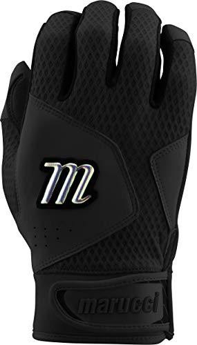 Marucci Sports Equipment Sports, MBGQST2Y-BK/BK-YM, Youth Quest 2.0 Batting Gloves