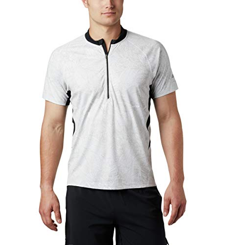 Columbia Short Sleeve Top T-Shirt Homme White FR: L (Taille Fabricant: L)