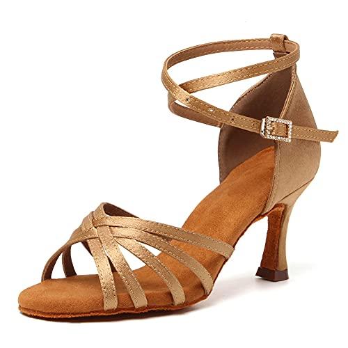 RUYBOZRY Zapatos de Baile Latino Mujer Salsa con Punta Abierta Zapatos de...